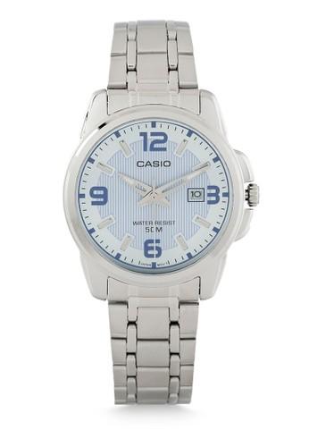 Casio blue and silver Casio Women LTP-1314D-2AVDF Silver Blue 19AC5AC5750B3AGS_1