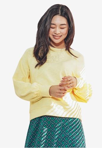 NAIN yellow Volume Sleeves Top 874BDAA0B0ECABGS_1
