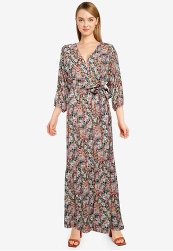 JACQUELINE DE YONG black Una 3/4 Wrap Maxi Dress E72FCAA5769AB5GS_1