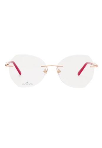 Swarovski silver SWAROVSKI SK5345 028 Eyeglasses 4FCBEGL812455AGS_1