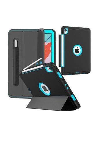 "MobileHub black and blue iPad Pro (11"") 2018 Extreme Hybrid Shockproof Case With Pen Holder F9511AC8153B98GS_1"
