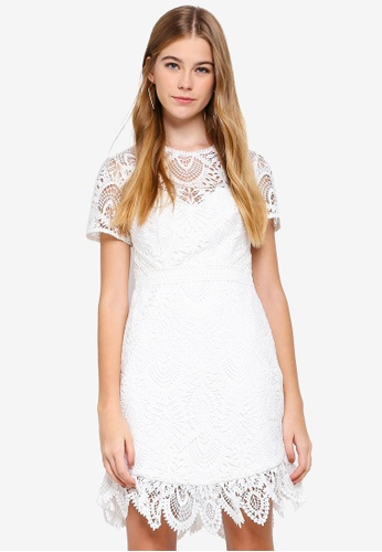 Forever New white Austin Fit And Flare Lace Dress 81161AA430919FGS_1