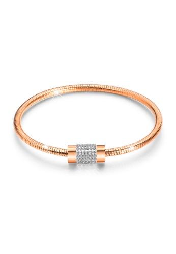 Bullion Gold gold BULLION GOLD Barrel Clasp Snake Chain Bracelet Rose Gold E2122AC4E1ECBCGS_1