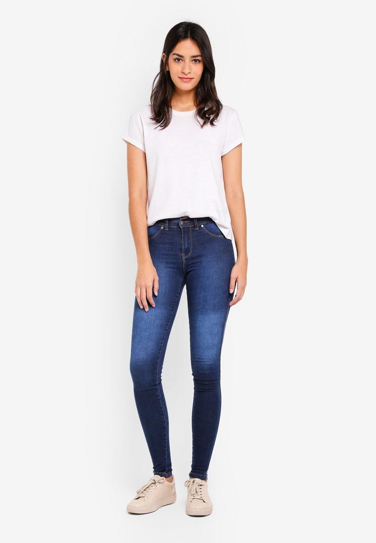 Denim Dark Dr Plenty Worn Jeans Blue Skinny Px4dfq46