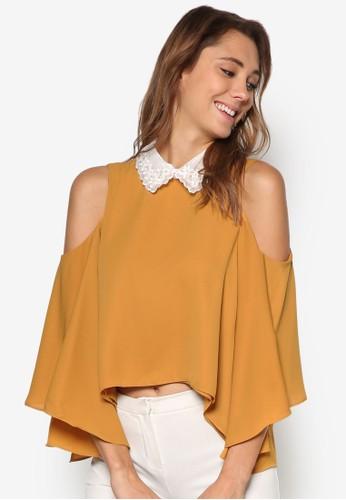 珠飾標準領挖esprit retail肩上衣, 服飾, 上衣