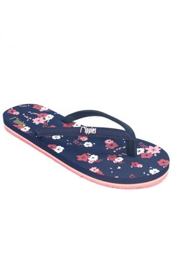 Ripples blue Lyla Floral Flip Flops RI425SH97OPQSG_1