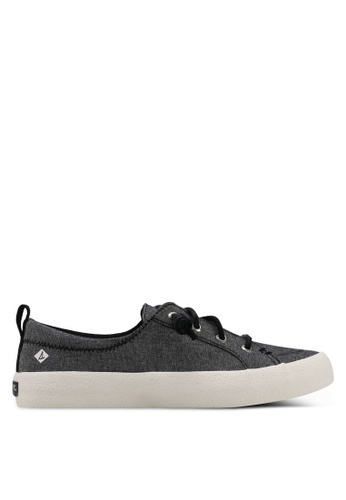 Sperry black Crest Vibe Crepe Chambray Sneakers 43C78SHDDA8B6AGS_1
