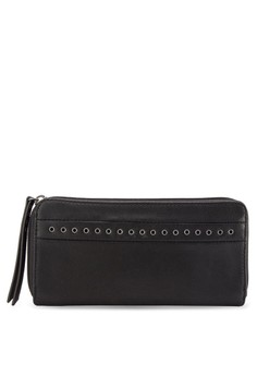 Eyelet Detail Casual Wallet
