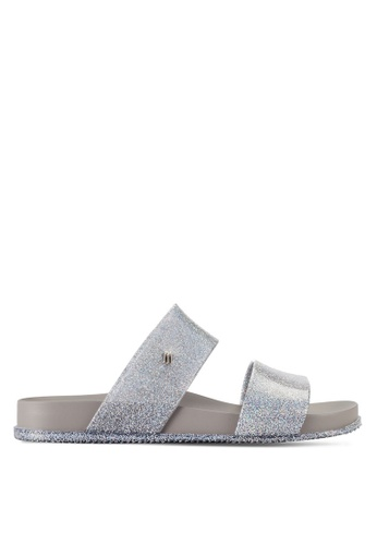 Melissa silver Melissa Cosmic Ad Sandals ME121SH63QMMMY_1
