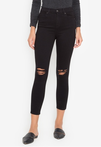 653fa4f2cb57d Shop TOPSHOP MOTO BLACK RIP JAMIE JEANS Online on ZALORA Philippines