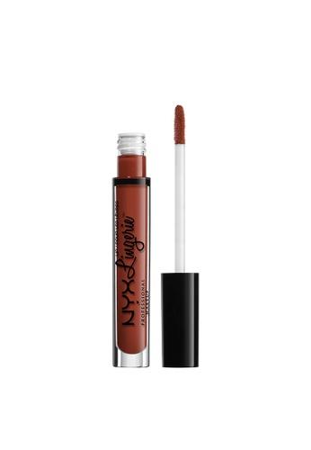 NYX Professional Makeup brown NYX Professional Makeup Lip Lingerie Liquid Lipstick - EXOTIC 18896BEC2A3EB4GS_1