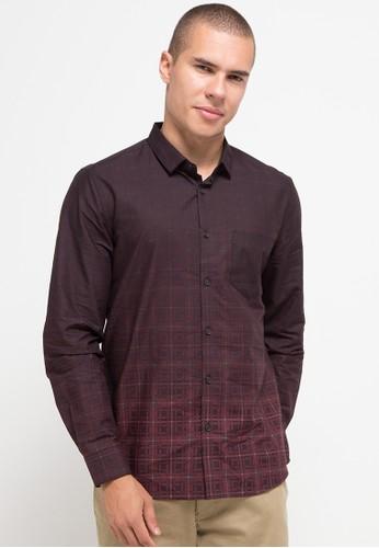 Manzone red LATHAM-MAROON Shirt 744FEAAD955E0FGS_1