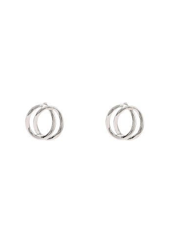 niko and ... silver Intertwined Earrings 6C063ACF897BD4GS_1