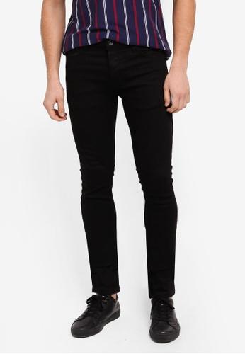 Topman black Black Oil Coated Stretch Skinny Jeans C60D4AA65C2DCCGS_1