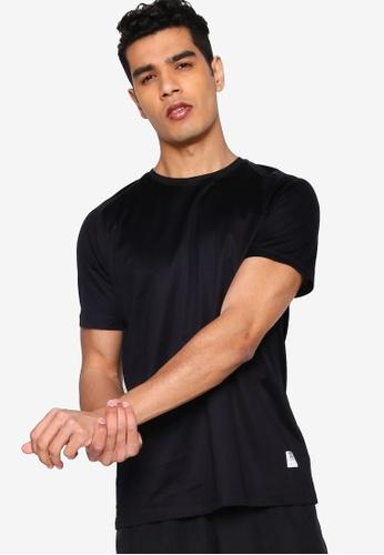 UniqTee 黑色 Raglan 圓領T恤 44E8FAA499B1C2GS_1