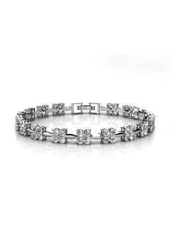 Her Jewellery white and silver Sweet Bracelet - Gelang Crystals Swarovski® by Her Jewellery F2696ACCA0218DGS_1