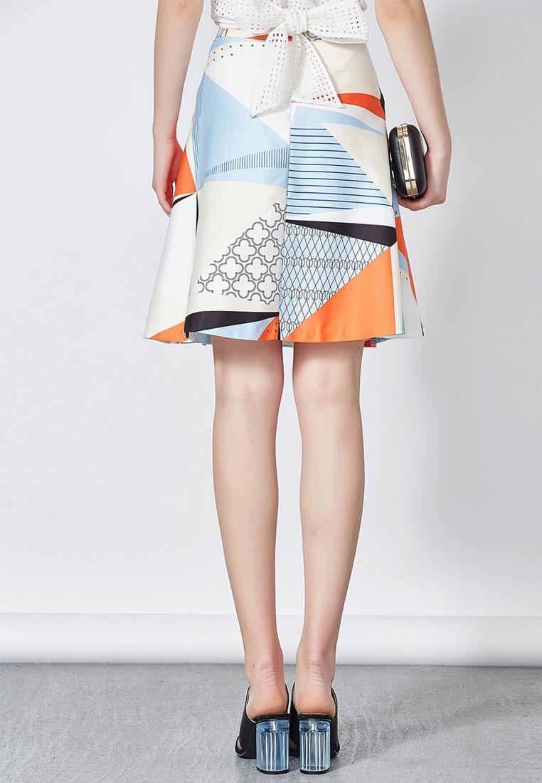 Pale Printed Blue Mini Skirt Hopeshow qvxt7ww