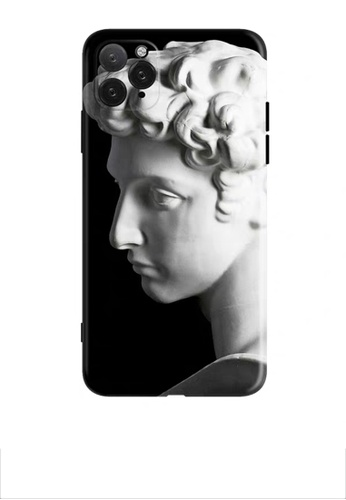 HAPPY FRIDAYS Statue Black IPhone Protective Printed Case DM12 2CD1EACA110863GS_1