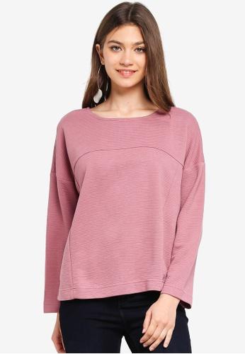 JACQUELINE DE YONG red Maise L/S Zip Sweatshirt 0D9BDAAEF19281GS_1