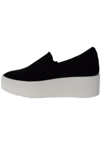 Maxstar 568 Synthetic Leather White Platform Slip on Sneakers US Women Size MA168SH60DIPHK_1
