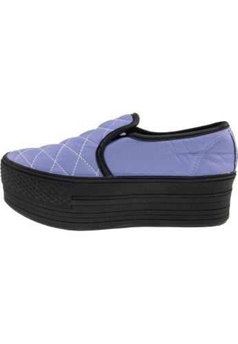 Maxstar 紫色 新款韩国鞋C50-Stitch-TC時尚皮革布混合女紫色 US Women Size MA345SH75GUETW_1