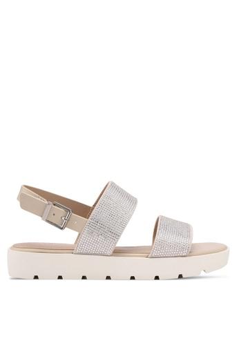 ALDO silver Eliraviel Flat Sandals 552F5SHD8E7E0FGS_1