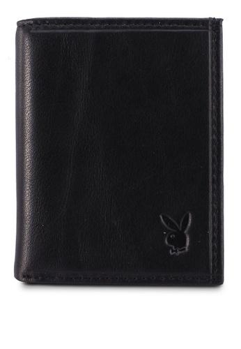 Playboy black Leather Billfold Wallet 39D98AC0AA09E9GS_1
