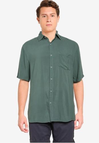 Cotton On green Cuban Short Sleeve Shirt 5A946AAECF0C55GS_1