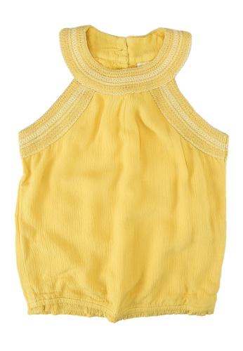 Abercrombie & Fitch yellow Decor Smocked Halter Top 96743KA6DE349FGS_1