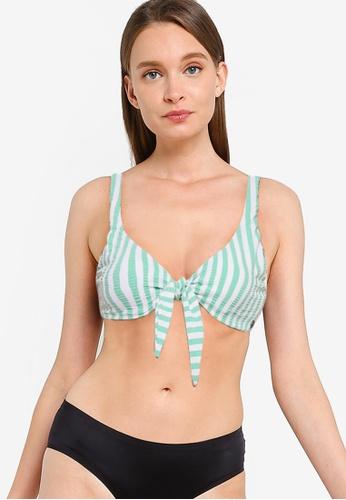 Billabong green Brooke Stripe Two Way Tie Bikini Top 9CF50AA77ED73CGS_1