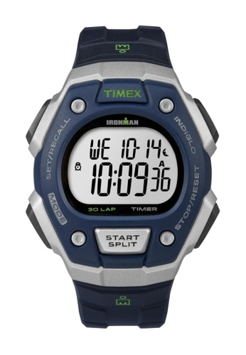 TIMEX black Timex IRONMAN® Classic 30 Full-Size - Black Resin Strap Watch TI857AC29CQCSG_1