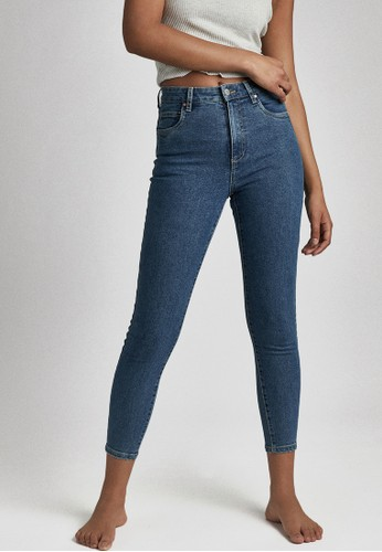 Cotton On blue High Rise Cropped Skinny Jean BB334AAF97072EGS_1