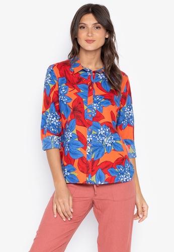 4196b88777 Shop MARKS   SPENCER Floral Print Long Sleeve Shirt Online on ZALORA ...