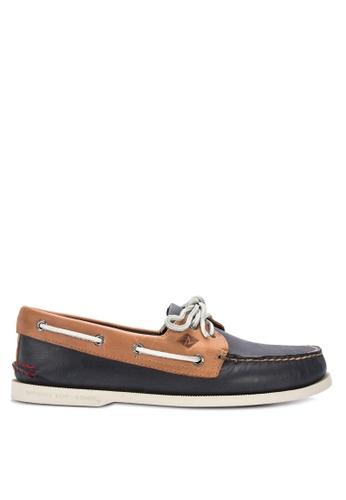Sperry navy A/O 2-Eye Sahara Pack Boat Shoes 370F9SHDEBFA20GS_1