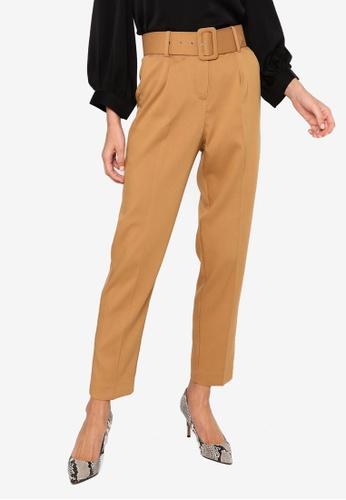Vero Moda brown Julie Carrot Pleat Pants A1811AA928AB51GS_1