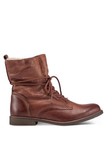 ALDO 褐色 刷破踝靴 26A9DSH987DFFBGS_1