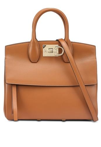 Ferragamo brown Studio Bag (zt) FEFADAC8391675GS_1