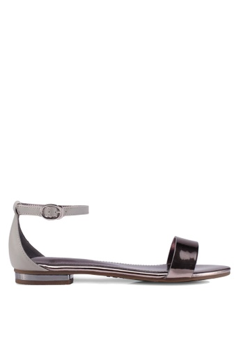 prettyFIT grey Metallic Flat Sandals B2866SH13CB0F4GS_1