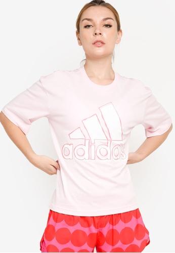 ADIDAS pink big logo tee FDA46AA27CF0E1GS_1