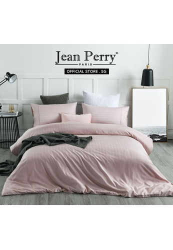Jean Perry Jean Perry Armelle Dobby Ecosilk Collection 980TC - Rose Smoke - Fitted Sheet Set B3CDAHL1750C41GS_1