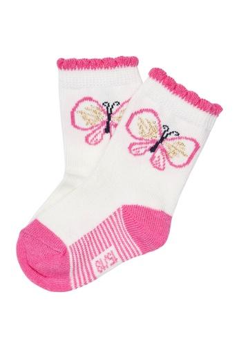 Du Pareil Au Même (DPAM) white Butterfly Socks 5899DKA6666595GS_1