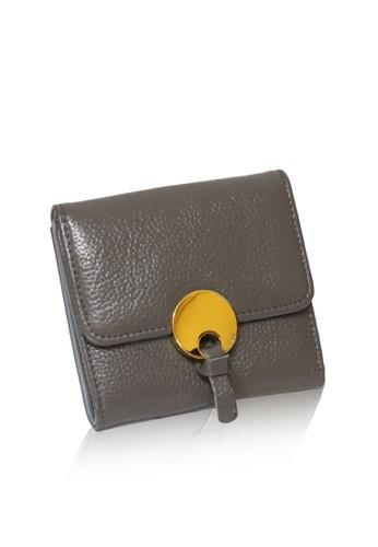 Dazz grey Calf Leather O Wallet - Grey DA408AC32VCXMY_1