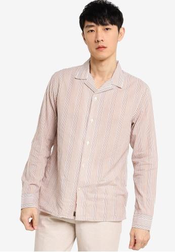 Banana Republic brown Slim-Fit Cotton Resort Shirt 394FDAA1044BCFGS_1