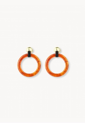 Pomelo brown Oversized Acrylic Hoop Earrings - Brown 99D04AC937A4DCGS_1