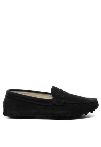 Twenty Eight Shoes 黑色 女裝真猄皮豆豆鞋M88 0E40ESH73D6E2FGS_1