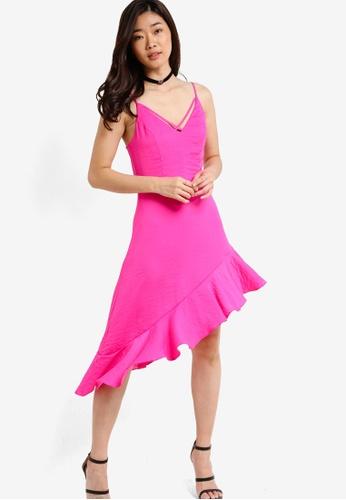 Miss Selfridge pink Fuchsia Hanky Hem Camisole Dress MI665AA12PBZMY_1
