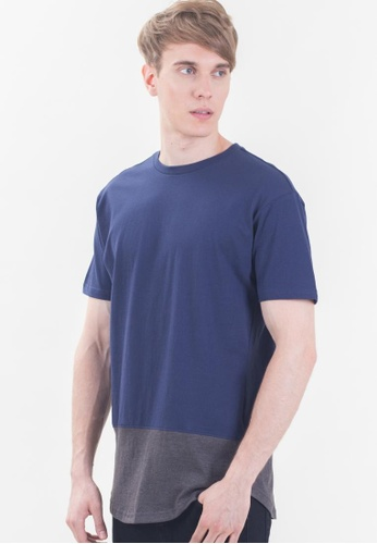 Drum Dual Tone Sleeve Tee Shirt-NBL DR425AA41RZUMY_1