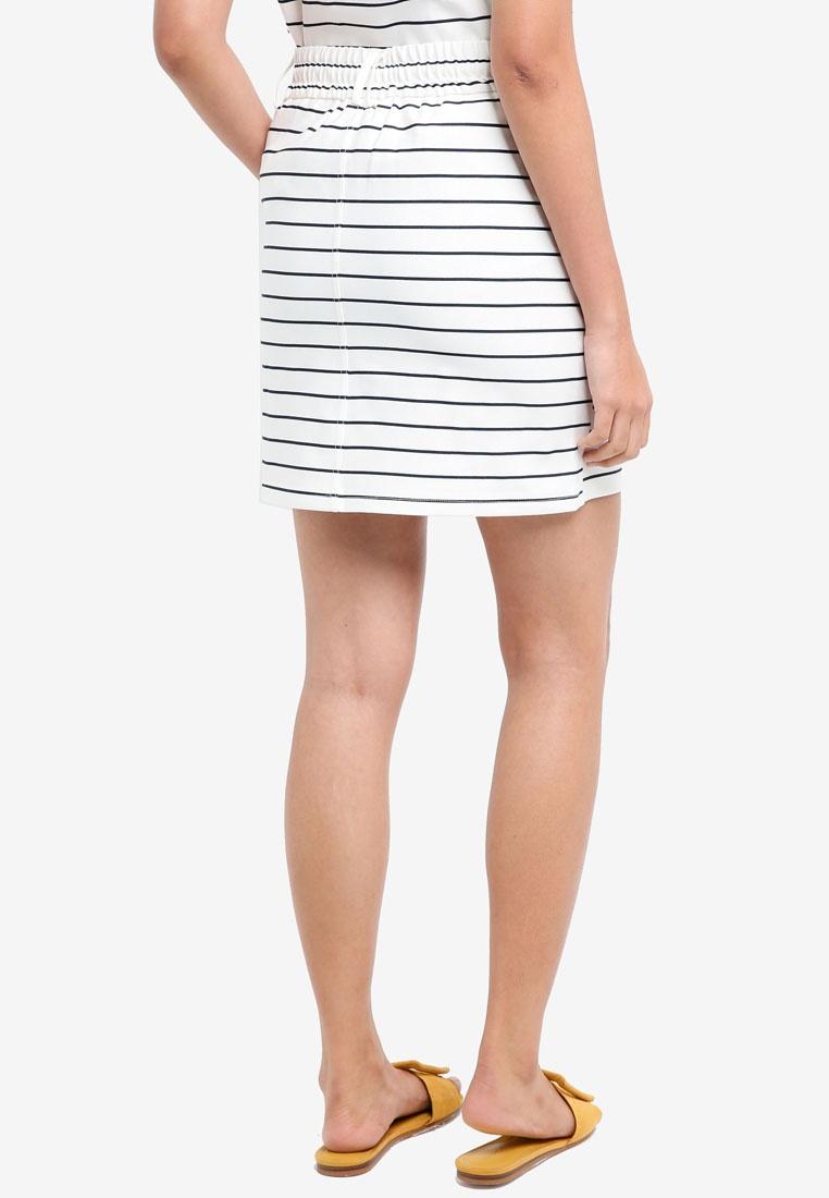 Striped ONLY Navy Poptrash Cloud Easy Skirt Dancer Strip xzq7Czw8