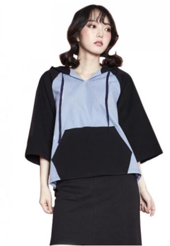 A X A black Hood Sweat Shirt AX230AA62CDXSG_1