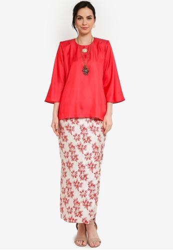 Yans Creation red LATIFA Kurung Kedah 54435AAE7A868AGS_1
